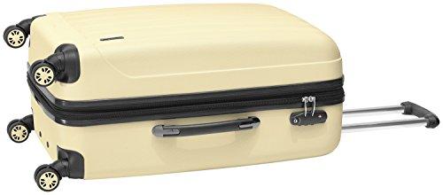 Packenger Kofferset - Velvet - 3-teilig (M, L & XL), Cafe-au-Lait, 4 Rollen, Koffer mit TSA- Schloss und Erweiterungsfach, Hartschalenkoffer (ABS) - 9