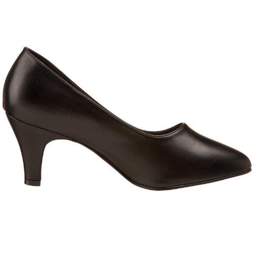 Pleaser - Divine-420w, Scarpe con plateau Donna Nero (Blk Faux Leather)