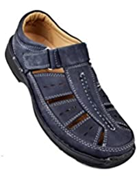Zerimar Sandalias de piel para hombres Sandalias Trekking Zapatillas de senderismo