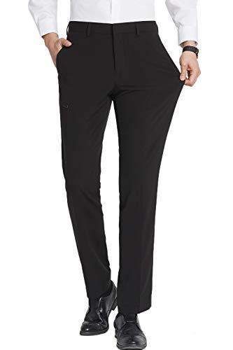 Herren Anzughose Schwarz Slim Fit, Stretch Business,40W/30L