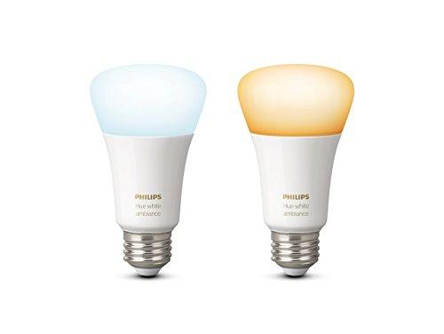prezzo Philips Hue White Ambiance Lampadine LED, Attacco E27, 9.5 W, 2 Pezzi