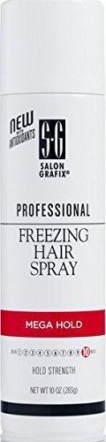 Salon Grafix Professional Freezing Hair Spray Styling Mist, Mega Hold 10 oz (283 g) Pack of 2 by Salon Grafix