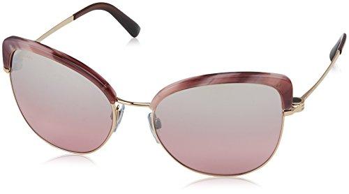 Bulgari Damen 0Bv6082 376/7E 58 Sonnenbrille, Braun Pink Brown