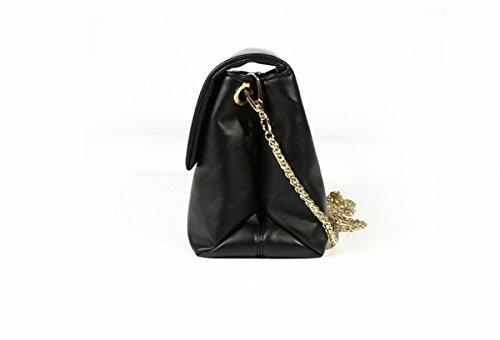 Weibliche einfache Freizeitkette kuriertasche Weiche tasche Zurück wölbung schultertasche Schwarz