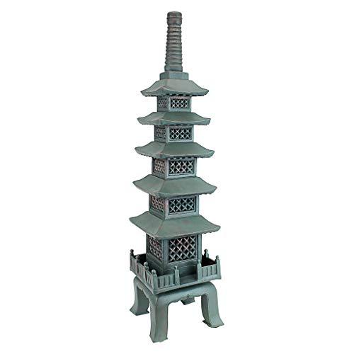 Design Toscano Asiatische Pagodenstatue nach dem Tempel von Nara , Maße: 16,5 x 16,5 x 71 cm - Asiatische Pagode