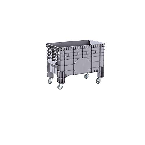 Conteneur grande capacité en polyéthylène - capacité 285 l, 4 pieds et 4 roulettes pivotantes - 1 pièce et + - Conteneur Conteneur de stockage Conteneur en plastique Roll-conteneur Bac de stockage Bac-chariot Bacs de stockage Bacs-chariots Caisse de