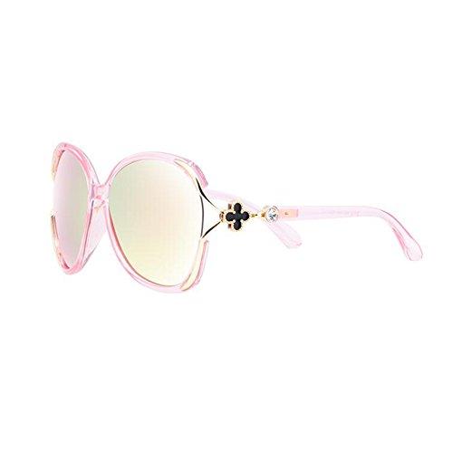 Sunny Honey Frau Stärken Pianguan Sonnenbrille -2018 Einfach Modisch Elegant (Farbe : Pink)