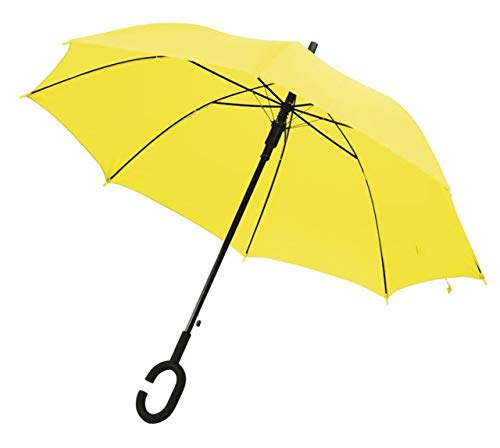 Ten Paraguas Amarillo asa C cod.EL21061 cm 102x102x88h