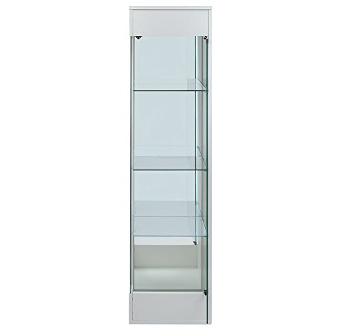 Nilkamal Macario Display Cabinet (Glossy Finish, White)