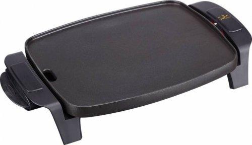 Jata Plancha de asar GR205 -  Superficie: 28 x 22 cm, Antiadherente, Fabricada en España, Apta para el lavavajillas, Fácil limpieza, Bandeja recoge salsas,