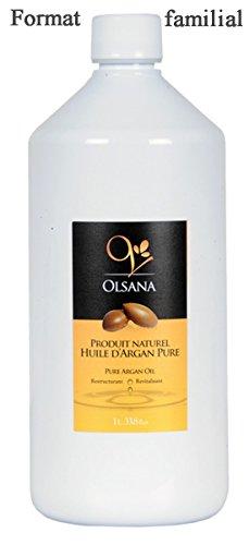 Huile d'Argan Premium OLSANA 100% PURE issue de l'agriculture biologique- 1L