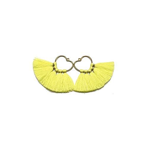 5.5cm, Quaste, Dekorative Quasten, Entdeckung-Ohrring, Fringe Trim, handgemacht, Ohrringe Anhänger, 2Pcs / Beutel, L12404 -
