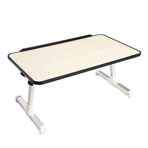 -Tisch, tragbarer Klapp-Laptop-Betttisch, Stand-Up-Frühstückstablett, Tablettständer, Bettsofa und Sofabodenleseständer schwarz 60x30 * 25,5 cm ()