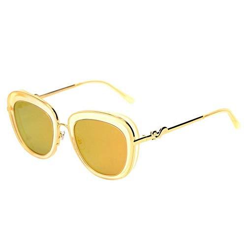 CN Sonnenbrille-Frauenart und weisespiegel-Gezeitenleute bunter Froschspiegel polarisierte Sonnenbrille,Gelber Rahmen g,1