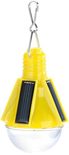Lunartec Party Design, Leuchtmittel Licht LED Solar, Akku, 0,3W, 12lm, gelb