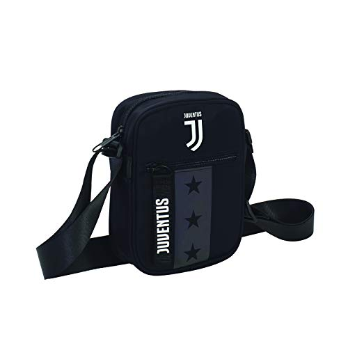 Tracolla Juventus Square Shoulder Bag, Nero, Flash Effect, Scuola Sport & Tempo libero