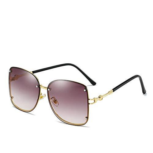 YIWU Brillen Neue Damen-Sonnenbrille Europäische und Amerikanische Trend Metal Square Sonnenbrille Brillen & Zubehör (Color : 4)