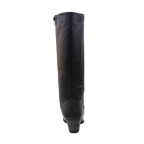 LILLEY faible talon haute Coutures jambe panneau de coffre Noir - noir