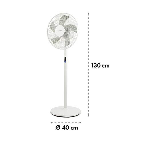 Klarstein FlexStream • Ventilador de pie • Tecnología WhisperFlow • Oscilación y...