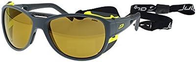 Julbo Explorer 2.0 Gafas de Sol, Gris Matt, Zebra Photochrom Filtro 2 a 4 Anti-Niebla Lentes