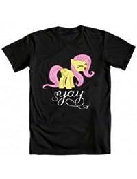 My Little Pony Fluttershy Yay Erwachsene schwarz T-Shirt