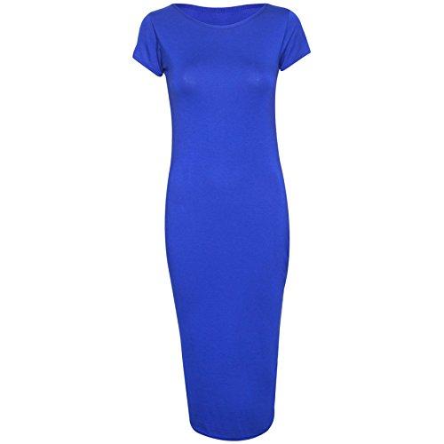 Oops Outlet Damen Kleid Größe s Plus Women'Cap Short Sleeve, figurbetont, 8, 10, 12, 14, 16, 18, 20, 22, 24, 26, Königsblau