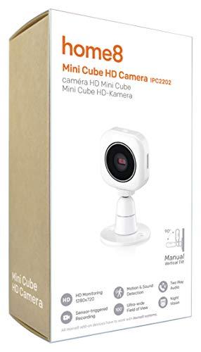 Home8 Smart-Home drahtlose WLAN HD Mini Video-Kamera mit automatischer infrarot Nachtsichtfunktion/mit Home8 App steuerbar und überwachbar/Alternativ als Video-Babyphone einsetzbar