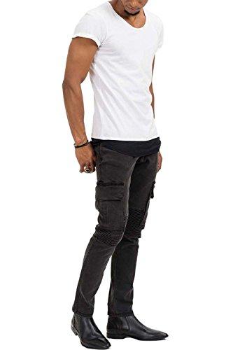 trueprodigy Casual Herren Marken T-Shirt einfarbig Basic, Oberteil cool und stylisch mit Rundhals (kurzarm & Slim Fit), Shirt für Männer in Farbe: Weiß 1073138-2000 White