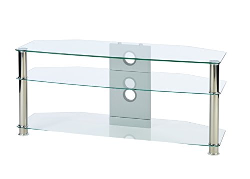 'MMT Furniture Designs CL1150 55 starr chrom, transparent Base Flat Panel Wandhalter