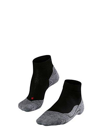 Sport-jugend-socke (FALKE Herren Socken Laufsocken RU4 Short - 1 Paar, Gr. 46-48, schwarz, feuchtigkeitsregulierend, Sportsocken Running)