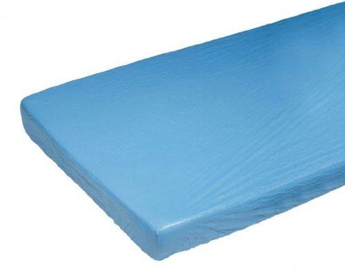 Matratzen-Schutzbezug, blaue Folie, Gummizug