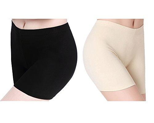 Wellness-kleid (CnlanRow Damen Hose Unter Kleid Shorts Kurz Leggings Yoga - Stretch Bequeme Stoffhose)