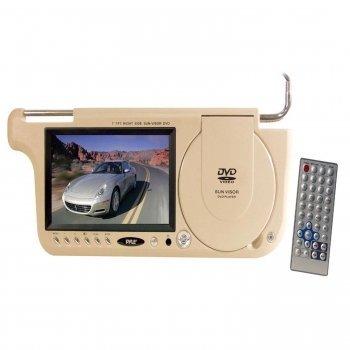 Pyle PLDVSL7T 7 TFT Left Side Sunvisor with DVD Player (Tan Color)