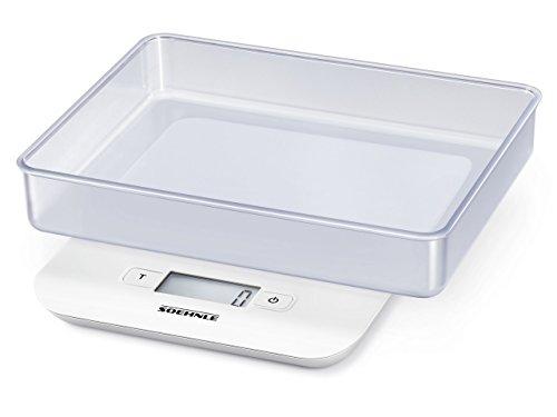 Soehnle 65122 8. Tipo: Báscula electrónica de cocina, Capacidad máxima de peso: 5 kg, Precisión: 1 g. Tipo de visualizador: LCD. Ancho: 184 mm, Profundidad: 150 mm, Altura: 33 mm Exhibición -Tipo de visualizador: LCD  Peso y dimensiones -Ancho: 184 m...