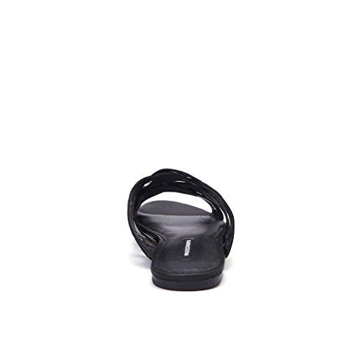 Ciabatta Windsor Smith Beret in pelle nera con passavela Schwarz
