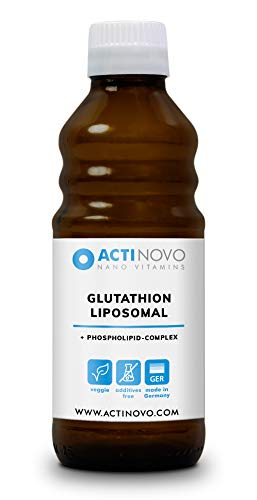Liposomales Glutathion | hochdosiert | Antioxidation | 250 ml | Tagesdosis 400 mg reduziertes Glutathion | hohe Bioverfügbarkeit | flüssig | ohne Zusätze | vegan