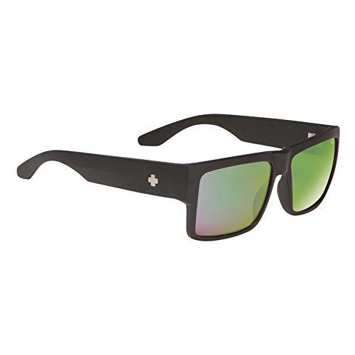 Spy Herren Sunglasses Cyrus Sonnenbrille, Matte Black- Happy Bronze Polar W/Green Spectra, 58