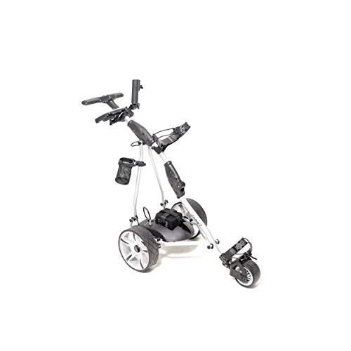 Caddy1 Elektro Golf Trolley 400 Silber 1 x 300 W Motor Bleigel Akku Zubehör