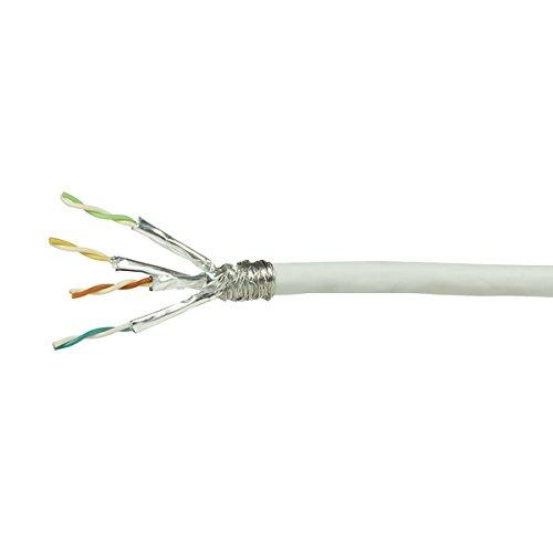 Faconet® LAN Netzwerk-Kabel Verlegekabel Cat.6 S/FTP, ISO/IEC 11801, TIA/EIA 568, weiß (100 Meter) (6-ethernet-kabel Meter Cat 100)