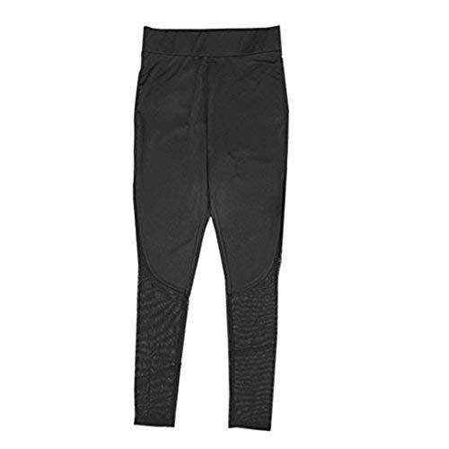 NEEKY Damen Gym Trainingshose - Frauen Fitness Leggings Hohe Taille Mesh Patchwork Leggings Skinny Push Up Hosen