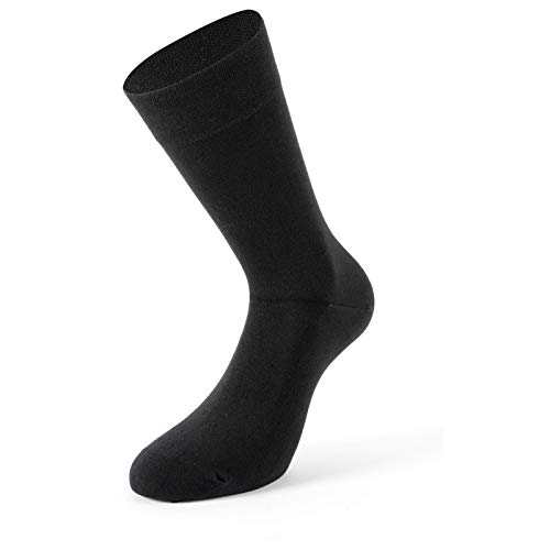 Bambus Socke 2er | schwarz, Größe:43 - 46