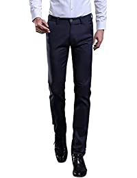 f82e3c8e92ed6 Battercake Herren Anzug Manguera Slim Fit Pierna Recta Negocios Manguera Pantalones  De Trabajo Chinohose Cómodo Formal