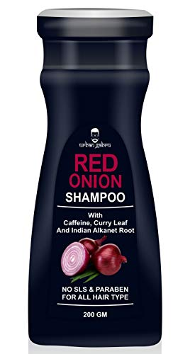 UrbanGabru Natural Onion shampoo for hair strengthening & hairfall control - Paraben & Sulphate free 200gm