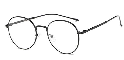Navarch unisex argento nero oro retrò montatura occhiali decorativo con lenti trasparenti per uomo donna occhiali da vista