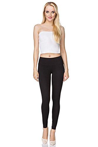 FUTURO FASHION Jambières Coton Pleine Longueur Tous Coloris Toutes Les Tailles Actif Pantalon Sport Pantalon - Noir, EU 48