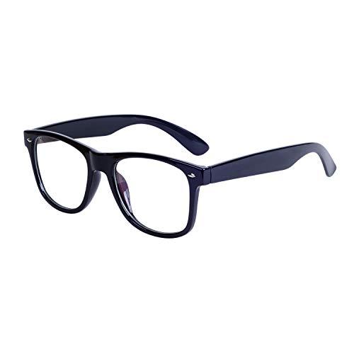 JoXiGo Herren Brille Ohne Stärke Groß Bold Large Rahmen Dekobrille mit Brillenetuis
