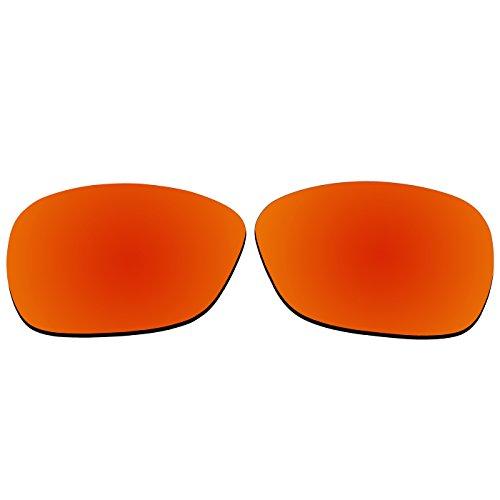 ACOMPATIBLE Ersatz-Objektive für Oakley C Wire (2011Jahr) Sonnenbrille Oo4046, Fire Red Mirror - Polarized