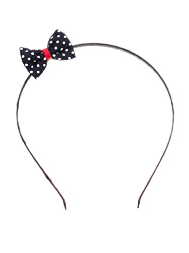 SETRINO Haarreif mit Schleife (4x3cm) Punkte Rockabilly Vintage Haarschmuck Kopfband Geschenk