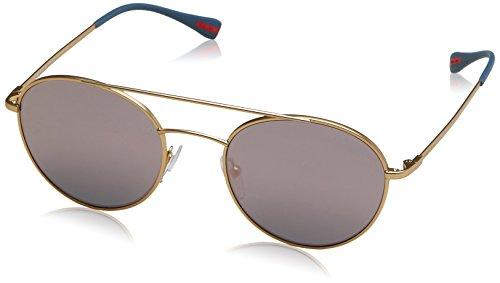 Prada Sport Herren Sonnenbrille 0PS51SS 1BK5T0, Gold (Matte Gold/Grey Pink), - Brillen Sport Prada