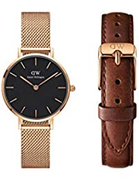 Daniel Wellington Petite Melrose 28mm & 12mm St Mawes Strap - Watch Gift Set